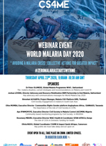 WORLD MALARIA DAY 2020 WEBINAR EVENT IN ENGLISH