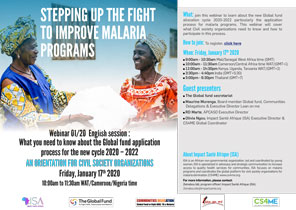 WEBINAR - STEPPING UP THE FIGHT TO IMPROVE MALARIA PROGRAMS - Download the complete presentation!
