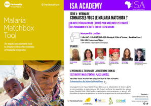 TRAINING WEBINAR IN FRENCH - FORMATION: CONNAISSEZ-VOUS LE MALARIA MATCHBOX?