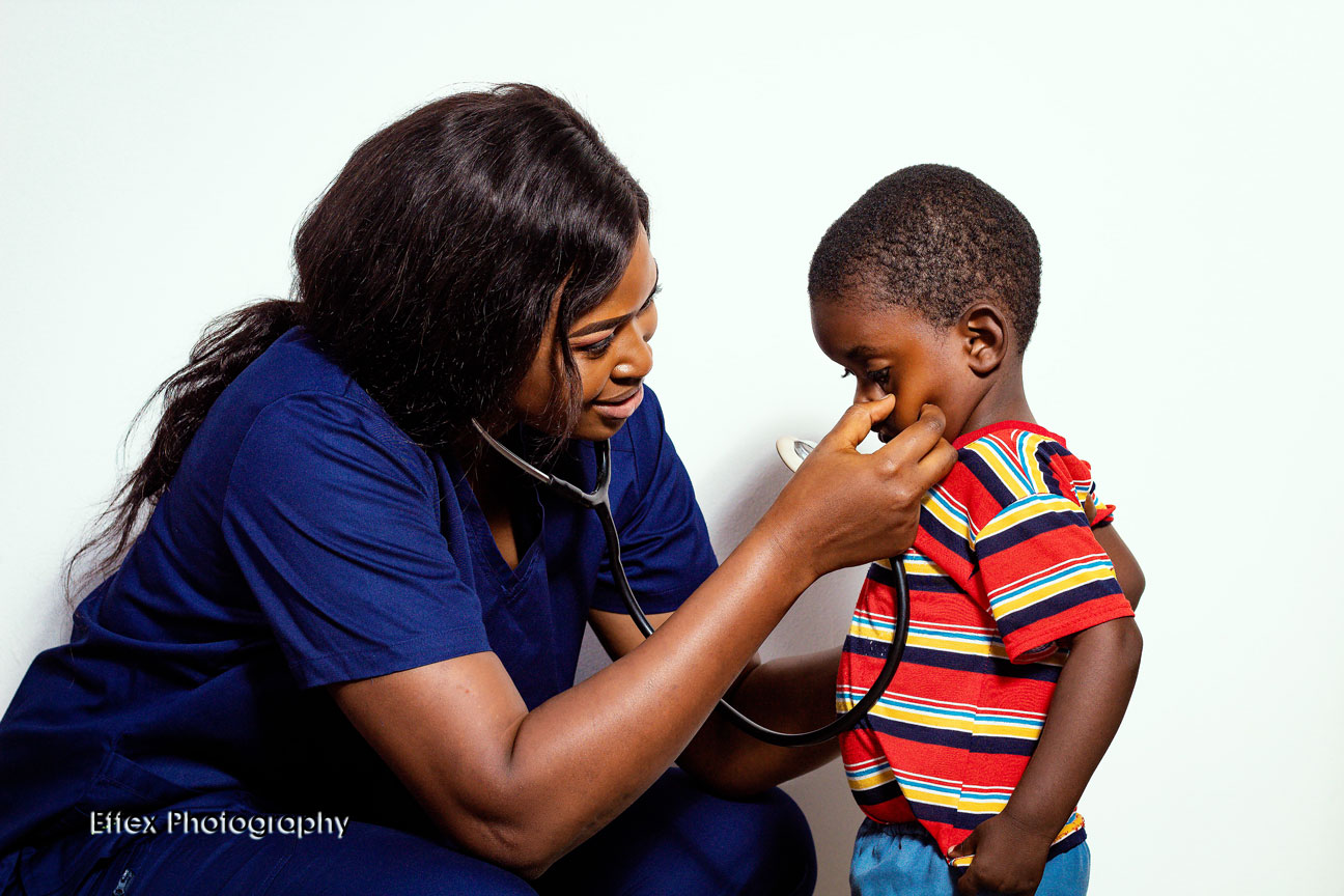 Dr. Ngwashi Christabel, a doctor committed to reducing maternal and child mortality in Cameroon, Central Africa