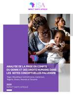 Analyse de la prise en compte du genre et des Droits Humains dans les notes conceptuelles paludisme 2020